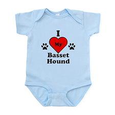 I Heart My Basset Hound Infant Bodysuit
