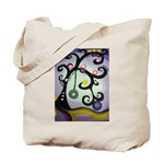 Go Green Funky Tree Tote Bag
