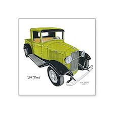 "'34 Ford Pickup Square Sticker 3"" x 3"""