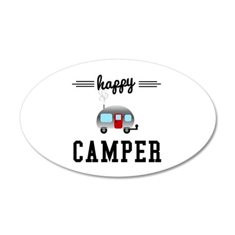 Happy Camper 35x21 Oval Wall Decal