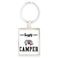 Happy Camper Portrait Keychain