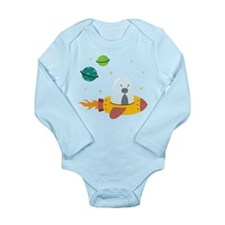 Outer Space Long Sleeve Infant Bodysuit