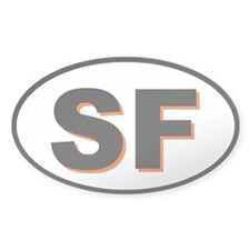 San Francisco, California Oval Decal