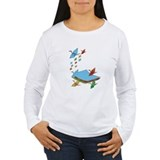 CranePaper4-Flock8x10 Long Sleeve T-Shirt