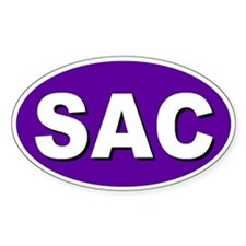 Sacramento, California Oval Decal