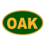 Oakland, California Oval Decal