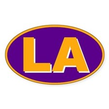 Los Angeles, California Oval Decal