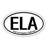 East Los Angeles, California Oval Decal
