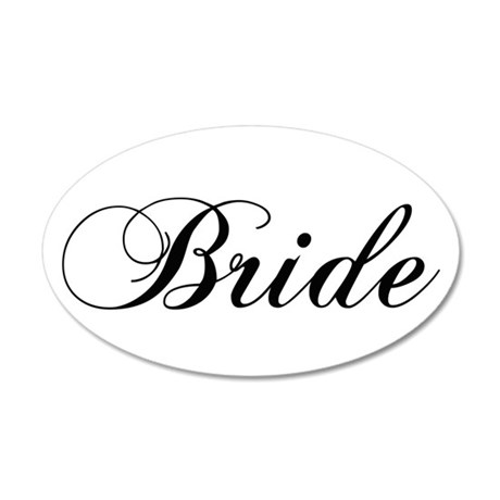 Bride1.png 35x21 Oval Wall Decal