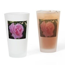 Light Pink Rose Drinking Glass