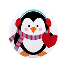 "Cute Cartoon Penguin 3.5"" Button"
