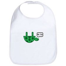 Upside down turtle Bib