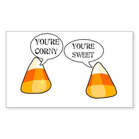 Candy Corn Halloween Rectangle Sticker