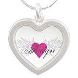 My Sweet Angel Jadyn Silver Heart Necklace