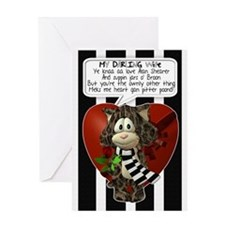 Geordie Wife Valentine's Card With Cat