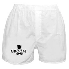 Mustache Groom Boxer Shorts