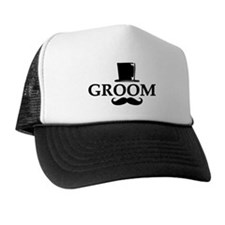 Mustache Groom Trucker Hat