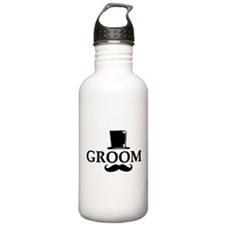 Mustache Groom Sports Water Bottle