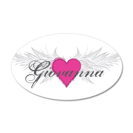 My Sweet Angel Giovanna 20x12 Oval Wall Decal