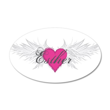 My Sweet Angel Esther 20x12 Oval Wall Decal