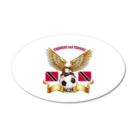 Trinidad and Tobago Football Design 35x21 Oval Wal