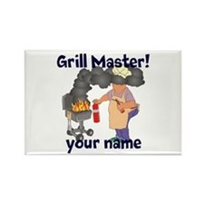 Personalized Grill Master Rectangle Magnet (100 pa