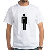 1XS Manly White T-shirt