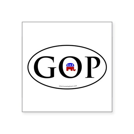 GOP Euro Styled Oval Bumper Sticker