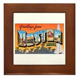 Boston Massachusetts Framed Tile