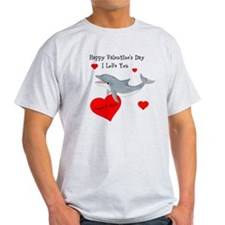 Personalized Dolphin Valentine T-Shirt