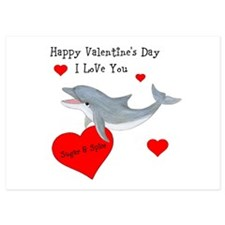Personalized Dolphin Valentine Invitations