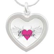 My Sweet Angel Emilie Silver Heart Necklace