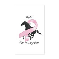 Ride for the Ribbon Rectangle Decal