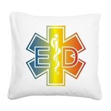 ED multicolor Square Canvas Pillow