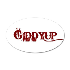 Giddyup.png 20x12 Oval Wall Decal