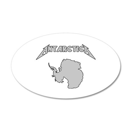 Antarctica - Metalllica 35x21 Oval Wall Decal