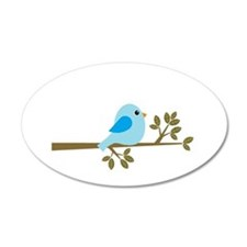 Blue Bird on a Branch Wall Decal