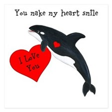 Personalized Whale 5.25 x 5.25 Flat Cards