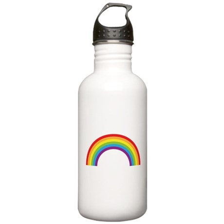 Cool retro graphic rainbow design Stainless Water