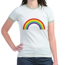 Cool retro graphic rainbow design T