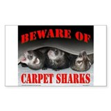 Carpet Shark Rectangle Decal