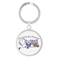 Owl Love You Forever Round Keychain