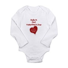 1st Valentine Mommy & Daddy Infant Creeper Body Su