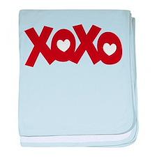 Hugs Kisses Hearts baby blanket