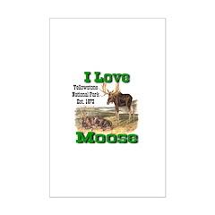 I Love Moose YNP Mini Poster Print