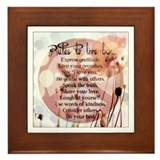 "The ""Rules"" of Peace... Framed Tile"