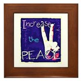Increase the Peace Framed Tile
