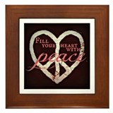 Peace in Your Heart Framed Tile