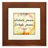 Breathe Peace Framed Tile