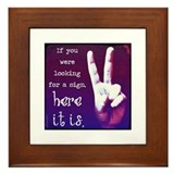 Looking for a Peace Sign Framed Tile